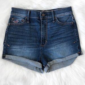 Hollister Denim High Waisted Denim Shorts
